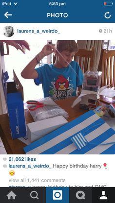 Lauren's post on Instagram about Harry's birthday