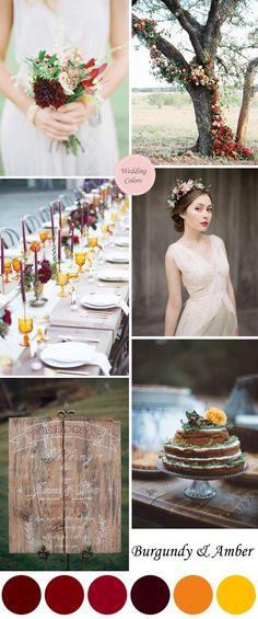 Burgundy & Amber Fall Wedding Palette|Fall Wedding Color Ideas