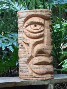 2x Pièce TIKIS Autocollant Sticker LOOSE Aloha Hang protected by Tiki Gods Hawaii