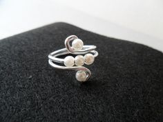Wire And Pearls Ring