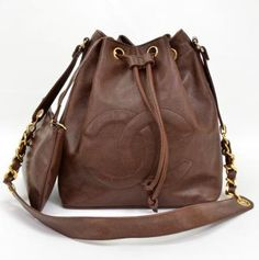 a185925e2ec8 Chanel Brown Caviar Leather Shoulder Bag and Pouch X158 Cross Body Satchel