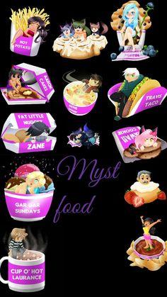 #aphmau #food { I found the picture on Pinterest } Aphmau Ein, Aphmau My Street, Aphmau Pictures, Aphmau Youtube, Zane Chan, Aarmau Fanart, Aphmau Characters, Aphmau Memes, Aphmau And Aaron