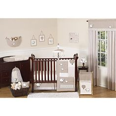 Sweet Jojo Designs 11-Piece Little Lamb, Sheep Animal Farm Baby Boy Girl Unisex Bedding Crib Set Without Bumper ** Read more reviews of the product by visiting the link on the image. (This is an affiliate link) #KidsHomeStore