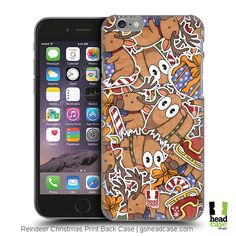 Snap in some style as Head Case Designs brings you Reindeer Christmas Prints Design Hard Back Case for your Smartphone! Reindeer Head, Reindeer Christmas, Apple Iphone 6, Psychedelic, Create Your Own, Print Design, Smartphone, Ipad, Phone Cases