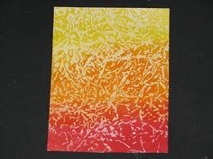 Background technique using wax paper & distress inks (Tutorial)