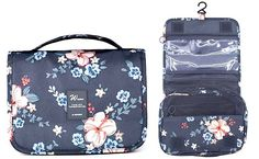 The Itraveller is one of the best toiletry bags for short-term or carryon travel, as it's lightweight and more compact than the other toiletry bags we've shared. #TravelFashionGirl #TravelFashion #PackingTips #traveltoiletrybag #whattopack #travelgear Dark Blue Flowers, Travel Toiletries, Packing Light, Packing Tips For Travel, What To Pack, Toiletry Bag, Travel Style, Lunch Box, Take That