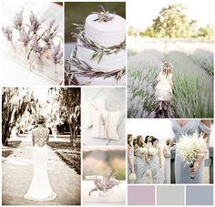 A Field of Lavender: lavender wedding. I like the thought of using both white and regular lavender
