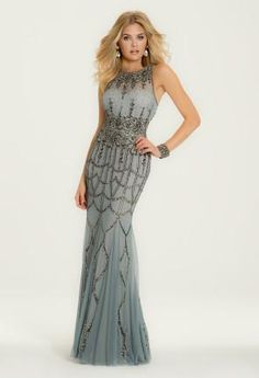 Beaded Neckline Dres