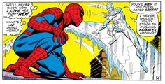 Spider-Man vs. Iceman (from ASM #92)