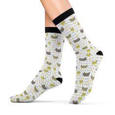 Catsy White Socks