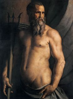 Agnolo Bronzino – Portrait of Andrea Doria as Neptune
