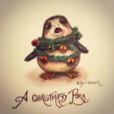 """""""And a cute Porg in a pear tree..."""""""