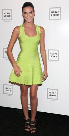 Odelle Annable attending a Herve Leger event