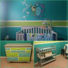 Monsters inc theme nursery for our baby boy
