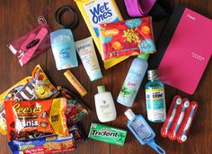 Make your own hospital survival kit. Great for Moms to be!