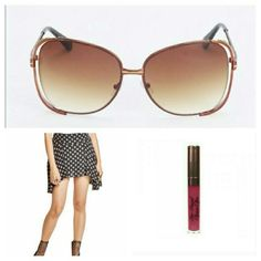 April Spirit Sunnies staple item for your wardrobe. Also available in black. PRICE FIRM  Free People skirt available in my closet April Spirit Accessories Glasses