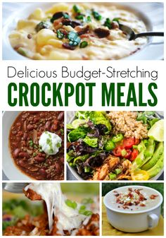 Budget Crockpot Recipes - Need an easy dinner recipe that will feed the whole family? These 44 cheap slow cooker meals are just the ticket! Some are freezer friendly but all are delicious! #recipes #easyrecipes #dinnerrecipes #lunchrecipes #freezercooking #freezerrecipes #crockpot #slowcooker #slowcookerrecipes #crockpotrecipes #saladrecipes #souprecipes #casserolerecipes