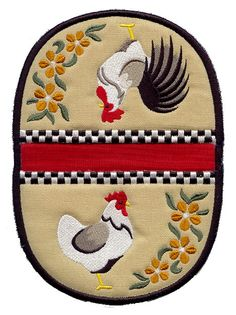 Country Chickens Pot Holder (In-the-Hoop)