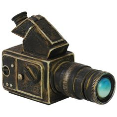 Celebrate your love for cinematography by decorating your home with the Benzara Resin Vintage Video Camera Replica Sculpture . This resin camera features. Vintage Video Camera, Vintage Cameras, Accessories Store, Decorative Accessories, Camera Decor, Urban Trends, Signature Style, Decorative Objects, Accent Pieces