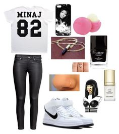 OUTFIT #7 by dejuuhh on Polyvore featuring polyvore, beauty, Nicki Minaj, Butter London, Dolce&Gabbana, H&M, NIKE and Eos