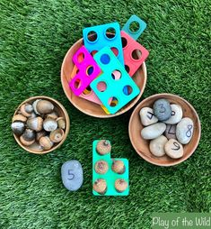Counting with Numicon - Using Autumn Nuts – Play of the Wild Numicon Activities, Nursery Activities, Work Activities, Autumn Activities, Teaching Numbers, Numbers Preschool, Preschool Activities, Teaching Kids, Kids Learning