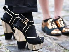 Black & Gold Heels #Inspiration #Platforms #Shoes #BiographyTrend #SpringNight #BiographyCollection #Biography