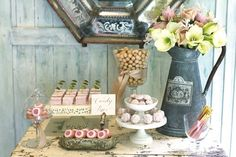 gorgeous vintage sweets table.
