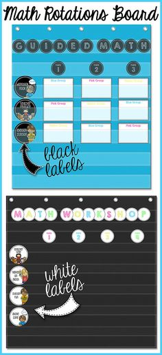 Do you use a Guided Math or Math Workshop approach to teaching Math? If so, check out this Group Rotation Board to organize and streamline your instruction! Math Classroom, Kindergarten Math, Teaching Math, Math Math, Math Fractions, Elementary Math, Teaching Ideas, Classroom Ideas, Classroom Inspiration