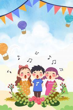 Children S Day Cartoon Childlike Propaganda Poster Balloon Background, Theme Background, Background Images, Happy Children's Day, Happy Kids, Cartoon Posters, Cartoon Kids, Photography Business Card, Feliz Diwali