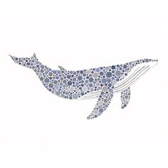 (for Gretchen) Old Blue, Humpback Whale, Limited Edition 8x10 inch Fine Art Print of an Original Watercolour Painting