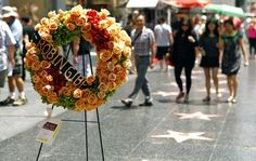 Farewell to Robin Gibb on Hollywood Walk of Fame.