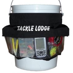 Tackle lodge pail tackle organizer mills fleet farm for Fishing caddy bucket