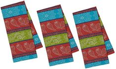 $19.93 Red, Turquoise,  & Green Kitchen Towels Chili Pepper Jacquard   - Set of 3 #kitchentowels #dishtowels #kitchendecor  #kitchenideas #homedecor #kitchendecorideas AFFILIATE LINK Turquoise Kitchen, Red Kitchen, Kitchen Decor, Red Turquoise, Southwestern Decorating, Dish Towels, Towel Set, Kitchen Towels, Dark Red