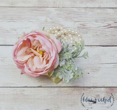 Peony Corsage Cabbage Rose Corsage Wrist by blueorchidcreations