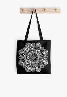 Creating mandala art will help you let go of your mind and move into a flow state where you can create beautiful work. • Millions of unique designs by independent artists. Find your thing. Mandala Pattern, Mandala Art, Flow State, Letting Go, Finding Yourself, Shoulder Bag, Artists, Let It Be, Tote Bag