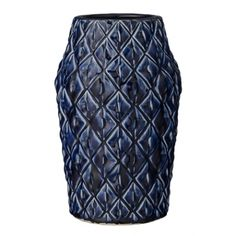Bloomingville Textured Navy Blue Vase  A fabulous inky blue vase with a textured exterior reminiscent of the eye-catching skin of a pineapple. It's ideal for dispalying a large bouquet of flowers and it will add that Scandi look to your home.  #Bloomingville #Blue #Vase