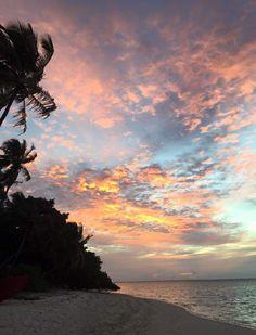 Sunset at Maldives, Thinadhoo Maldives, Celestial, Sunset, Places, Outdoor, The Maldives, Outdoors, Sunsets, Outdoor Games