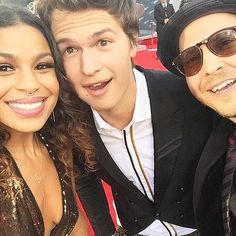 "The Pics AMAs Stars Just Couldn't Keep to Themselves | PALLING AROUND | Jordin Sparks made a new friend at the show – The Fault In Our Stars heartthrob Ansel Elgort. ""Can we just take a moment to appreciate this sweet dude, @anselelgort? I'm so excited I got to meet him! Congrats on everything!"" she shared on Instagram of their red carpet meet-cute."