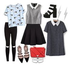 """""""preppy clean black outfit Korean fashion"""" by thelovelymonalisa on Polyvore featuring Zara, Alexander Wang, Edge Only and The Limited"""