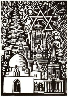 #linocut #illustration #religious #art