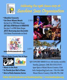 Miami's Sunshine Jazz Organization presents 2 Days of Jazz at Art Deco Weekend, Jan 16-17, 2016