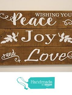 Rustic Christmas Wood Sign from Rusticly Inspired Signs https://www.amazon.com/dp/B01M2Z2PO2/ref=hnd_sw_r_pi_dp_2H3bybEZ490ZV #handmadeatamazon