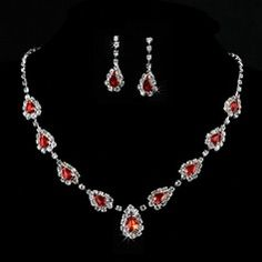 Beautiful Alloy/Crystal Ladies' Jewelry Sets