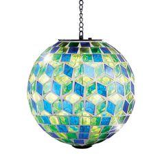 Amazon.com : Solar-Powered Mosaic Hanging Garden Ball : Patio, Lawn & Garden