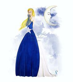 """Star"" Print fashion illustration, illustration of Miss Style"