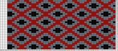 Tricksy Knitter Charts: Red and Black Sweater by EgoFlyer