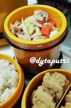 THE DYTAPUTRI: Resep MPASI : Sup Ayam Makaroni Jagung (10m)