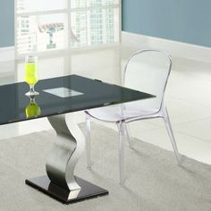 Clear Acrylic Scape Dinette Chair EEI-789-CLR another view