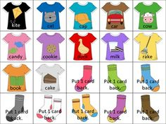Laundry Articulation Game- put articulation words on shirts and hang shirts on clothes line