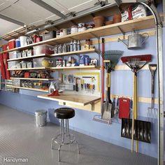 Time to Reorganize the Garage #WoodworkingIdeasGarden